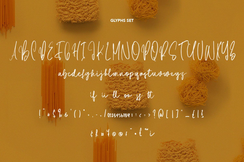 Spaghetti - SVG Script Font example image 6