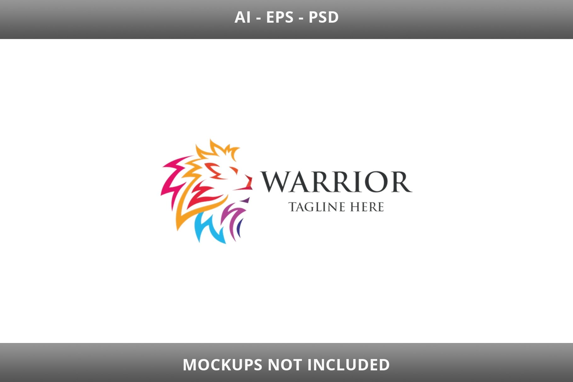 Warrior Lion Letter W Logo example image 4