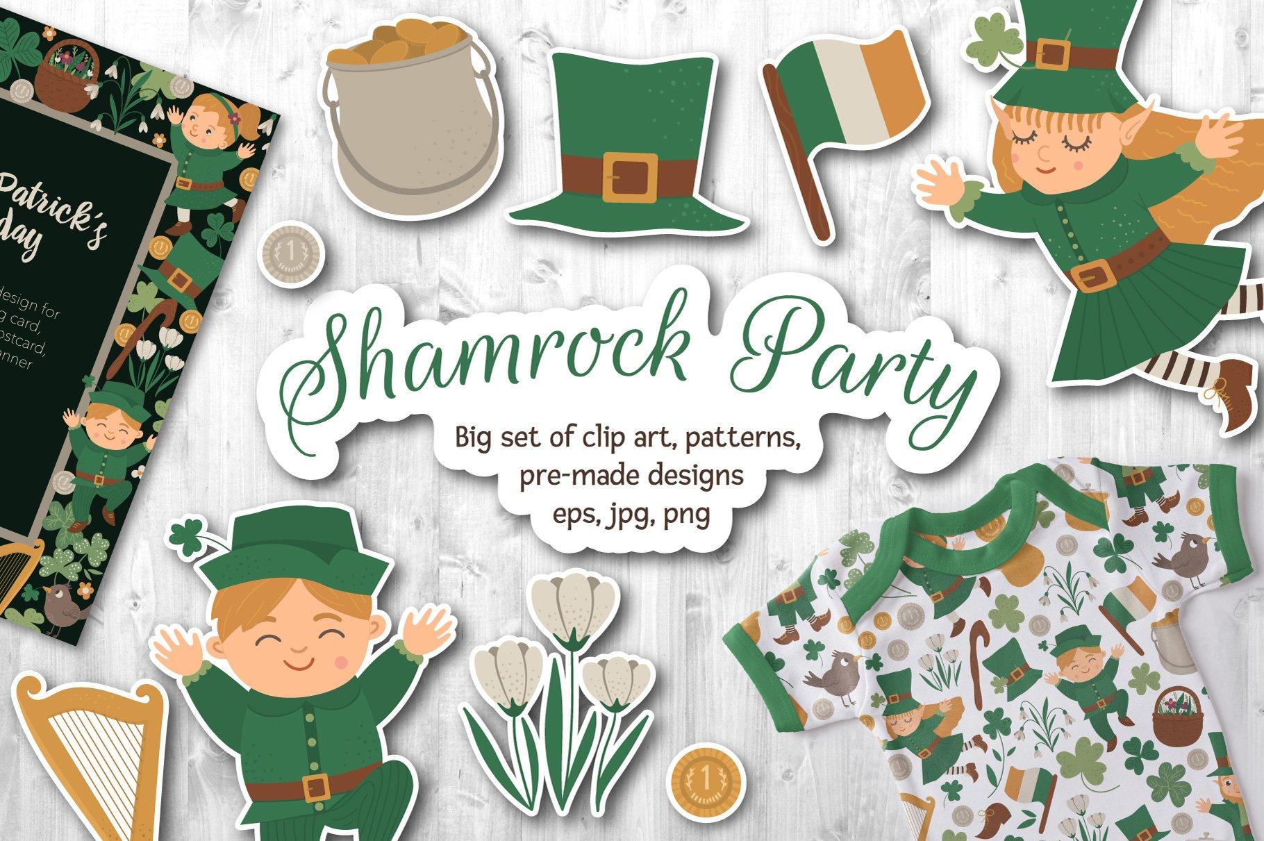 Download Shamrock Party 421050 Illustrations Design Bundles