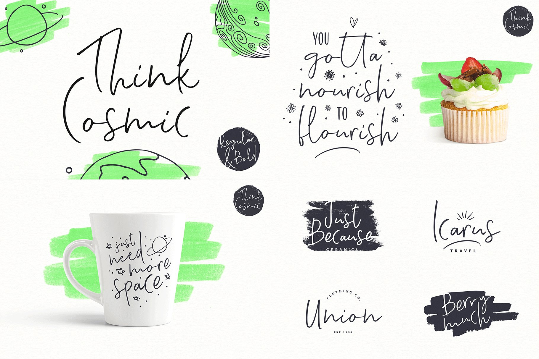 The Hand Lettered Font Bundle example image 24
