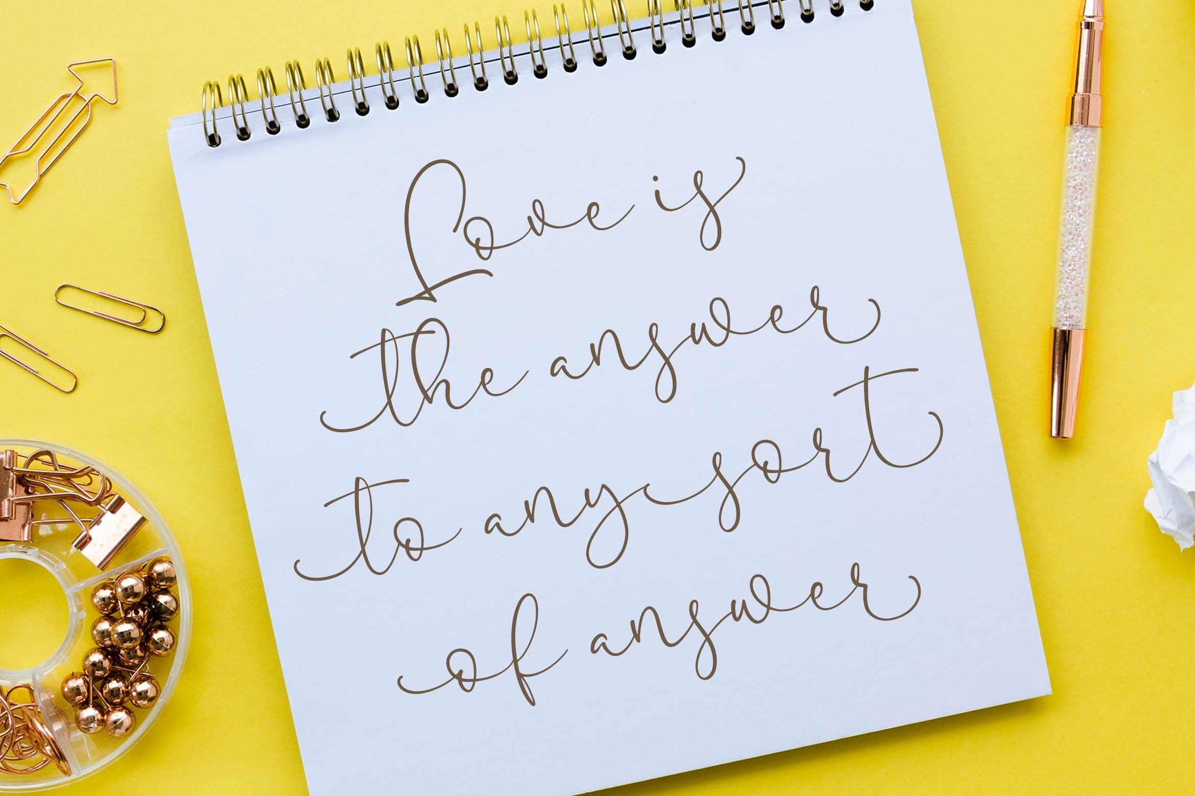 Pretty Yellow Beauty Calligraphy Font example image 6