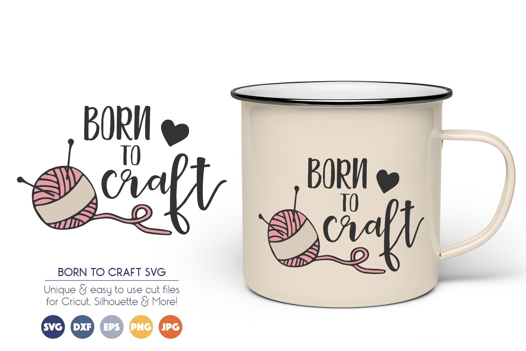 Born to Craft - Crafters, Knit SVG Vector example image 1