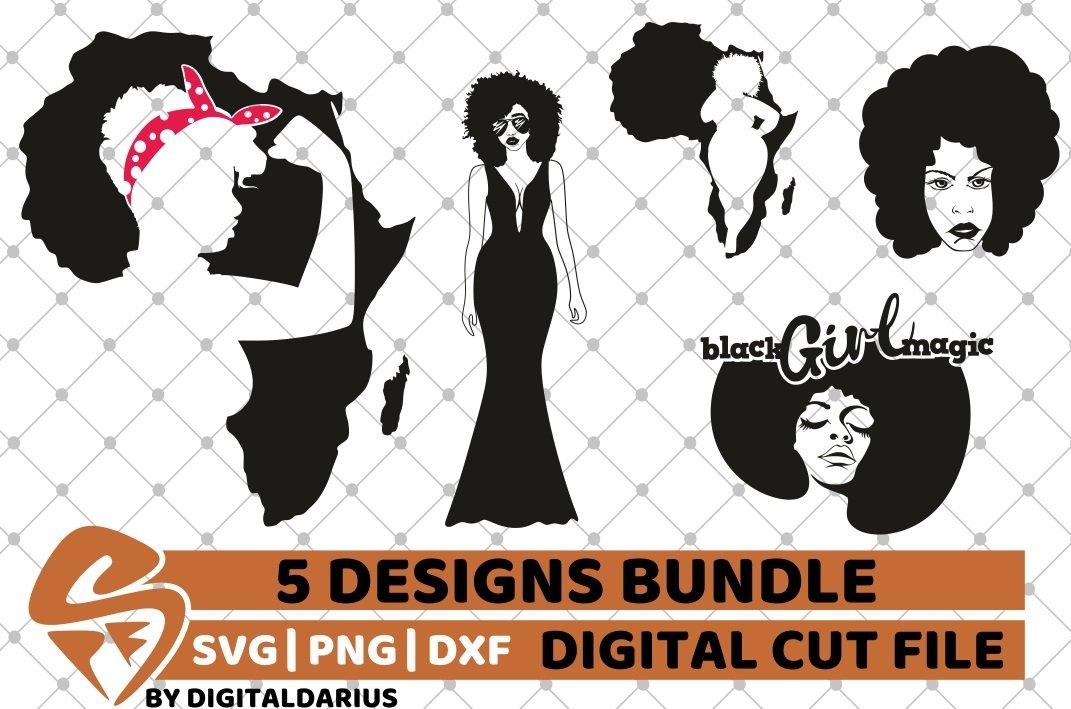 5x Black Woman Bundle Svg Afro Lady Svg File Africa Svg 218406 Cut Files Design Bundles