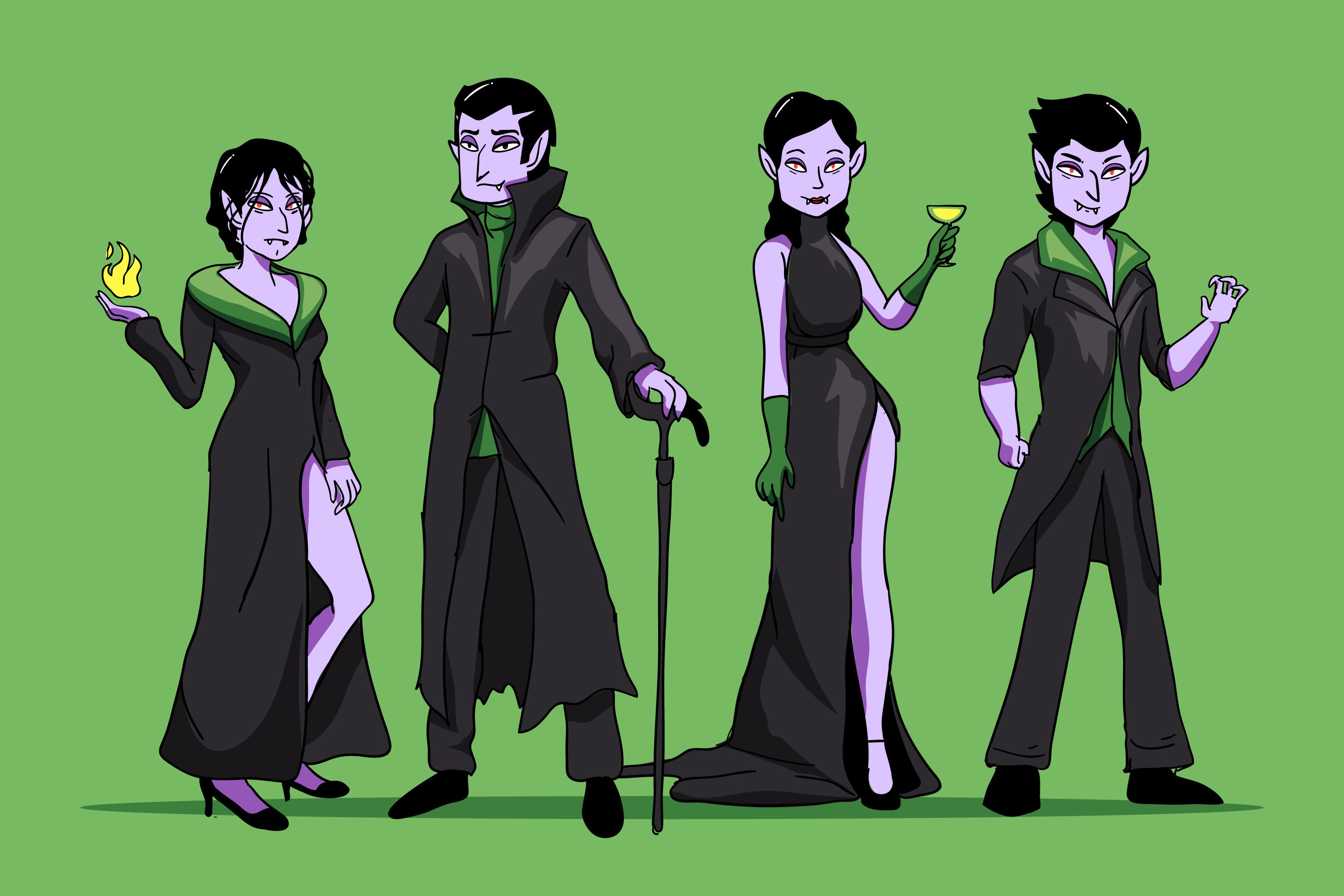Hand Drawn Vampire Character Collection example image 1