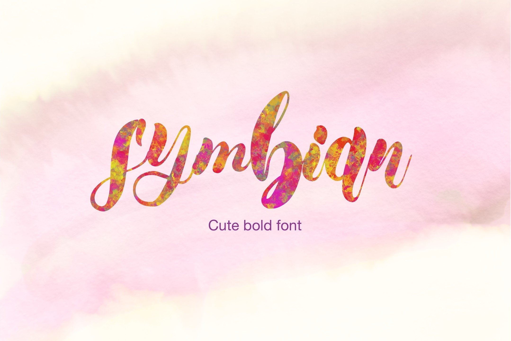 Symbian Cute Bold Font example image 1