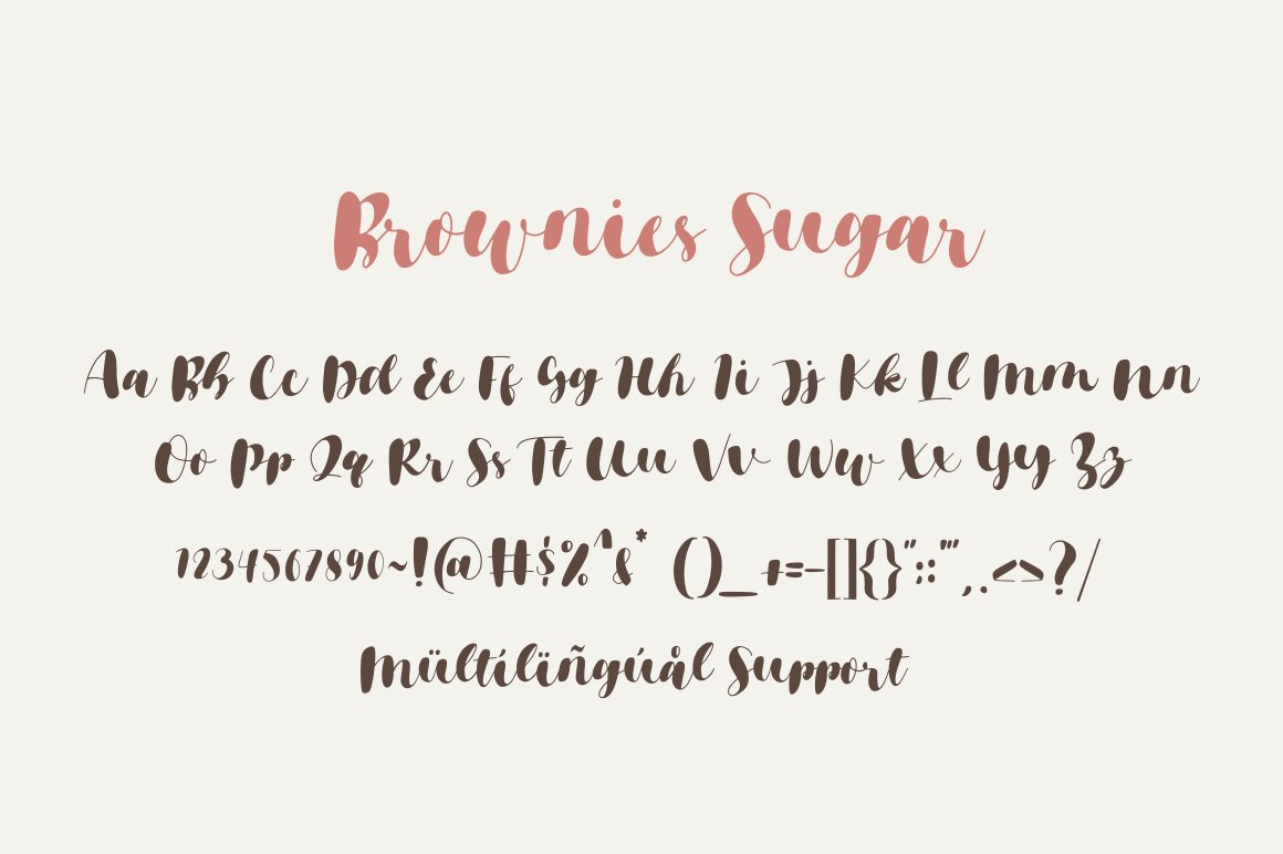 Brownies Sugar - Sweet Bouncy Font example image 9