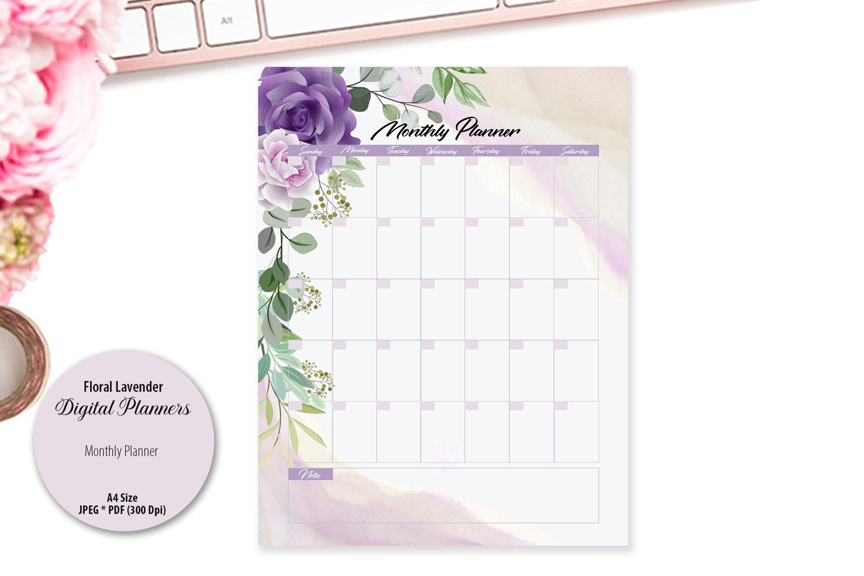 Floral Lavender Digital Planner example image 4