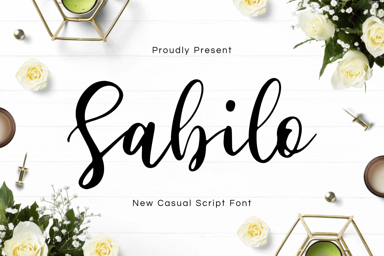 Sabilo Script Font example image 1