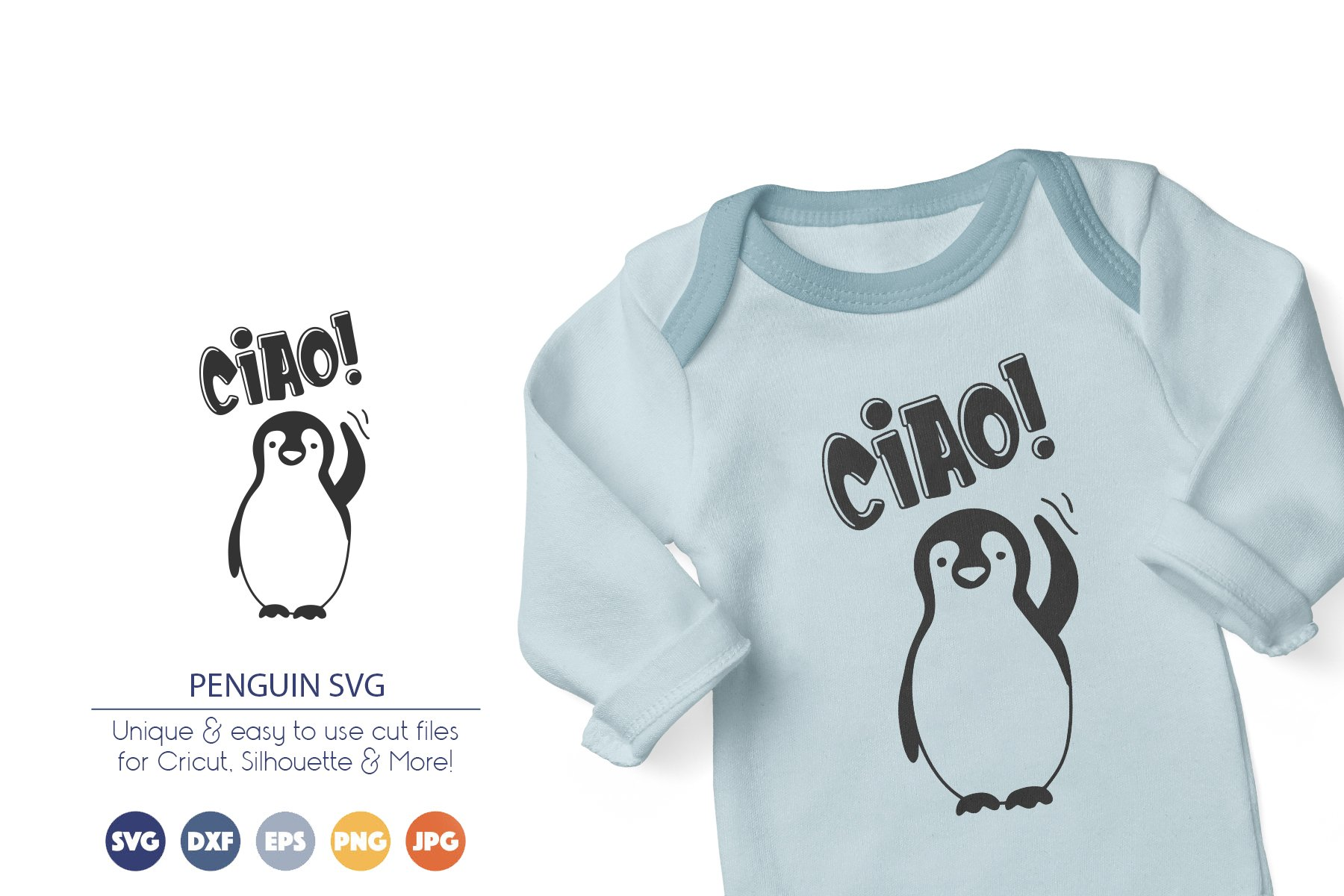 Penguin SVG Cut Files example image 1