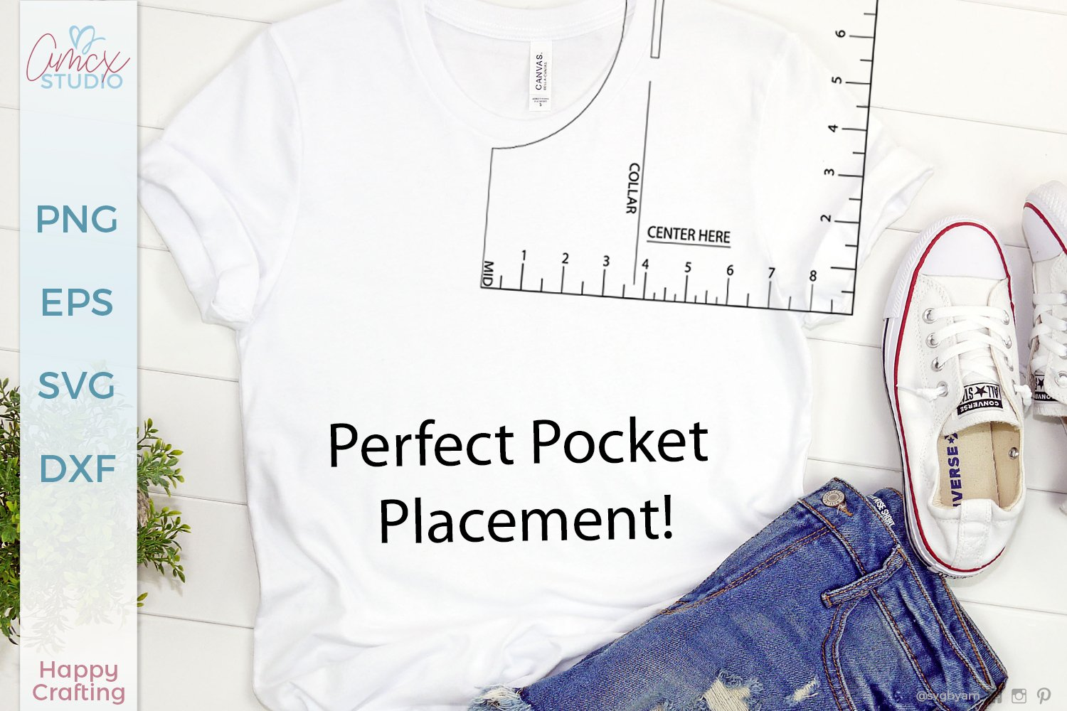 Pocket Placement Ruler Svg T Shirt Guide 1010644 Cut Files Design Bundles
