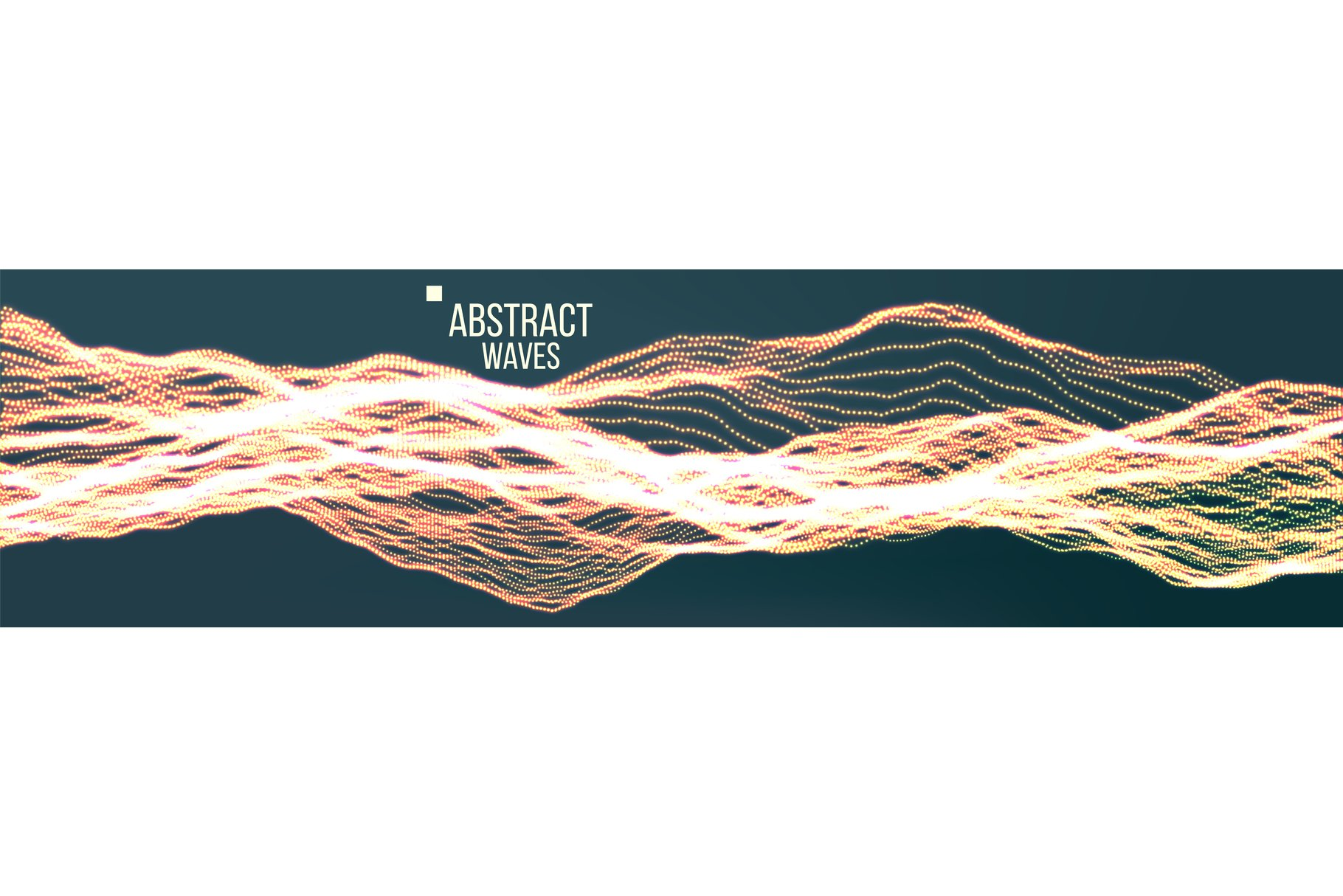 Music Waves Abstract Sound Background Vector. Pont Dance example image 1