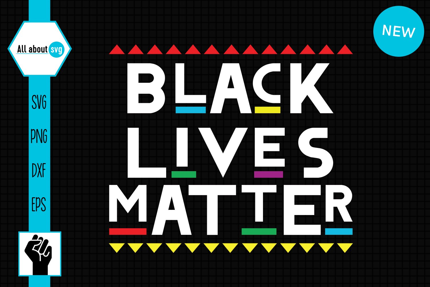 Black Lives Matter Svg, Black Lives Protest Svg example image 2