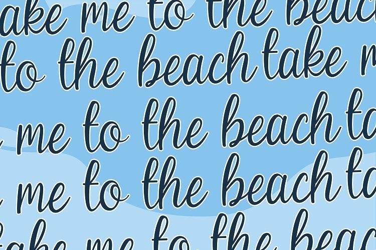 Beach Umbrella - Handwritten Script Font example image 9