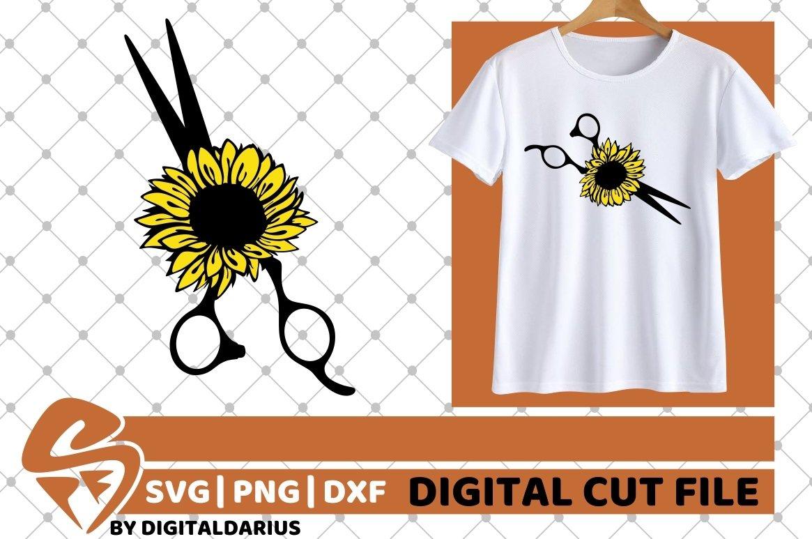 Scissors svg, Hairstylist svg, Hairdresser svg, Sunflower example image 2