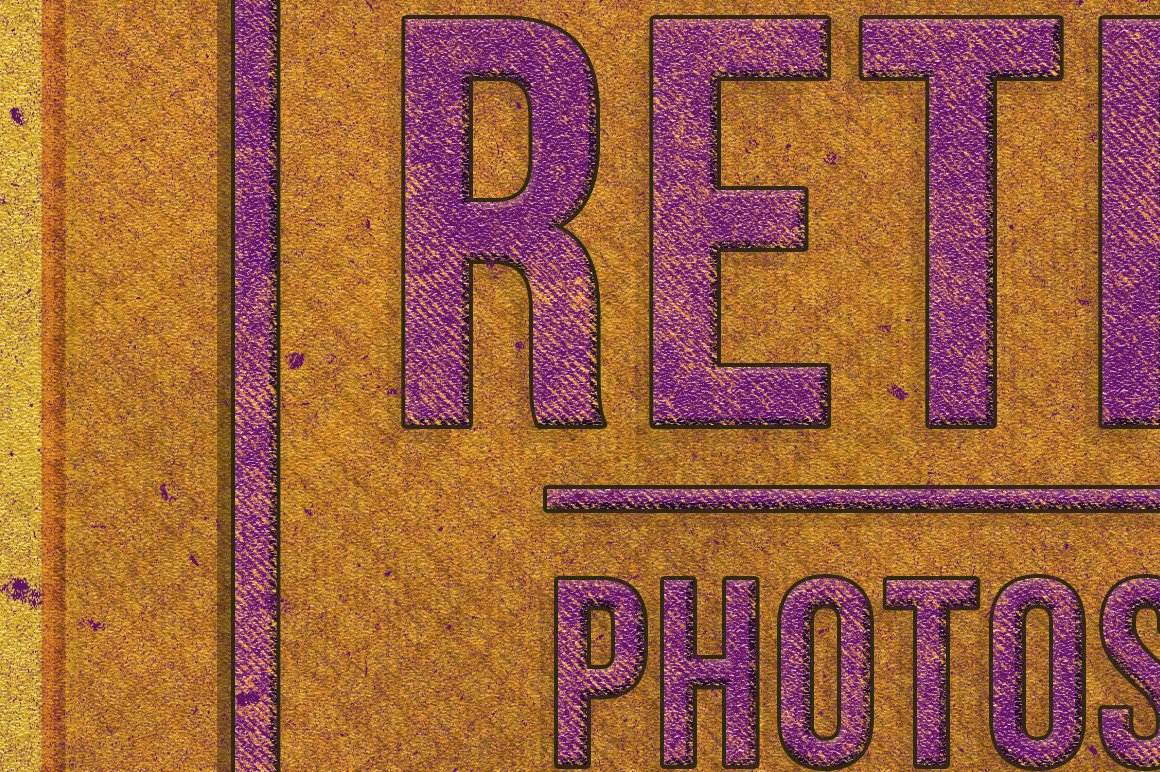 Retro Text Effect for Photoshop example image 3