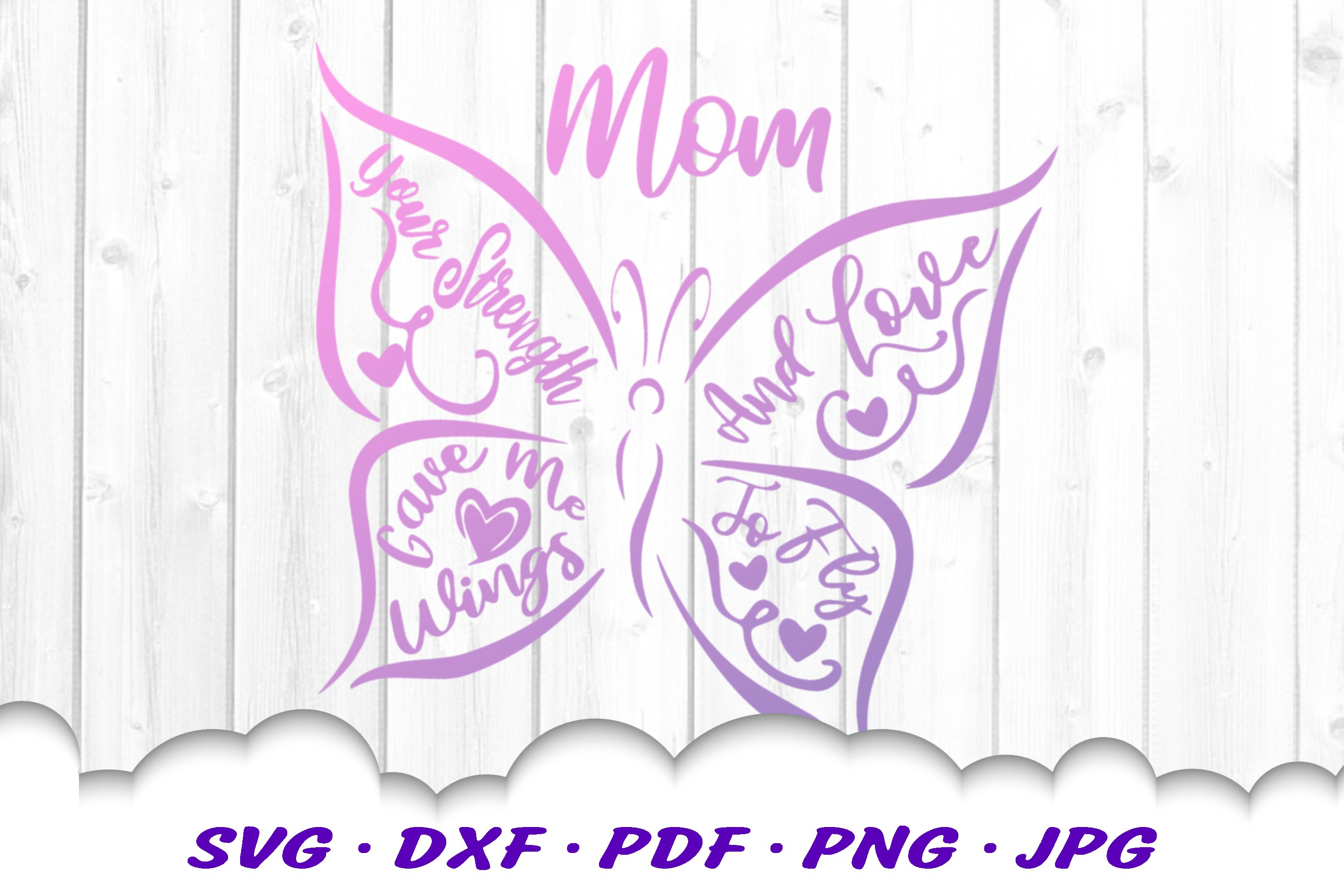 Mom Gift Butterfly Quote Shirt SVG DXF Cut Files example image 3