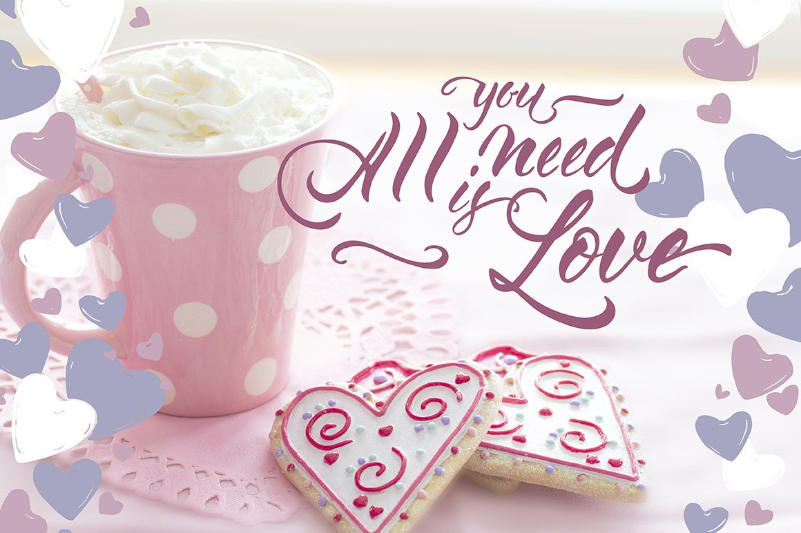6 Romantic cards and lettering example image 8