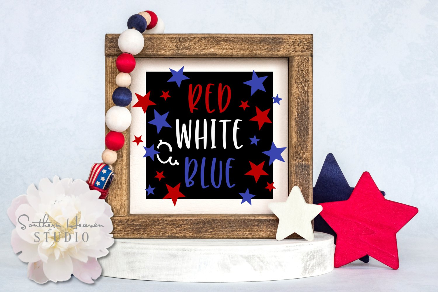 RED, WHITE & BLUE - SVG, PNG, DXF and EPS example image 1