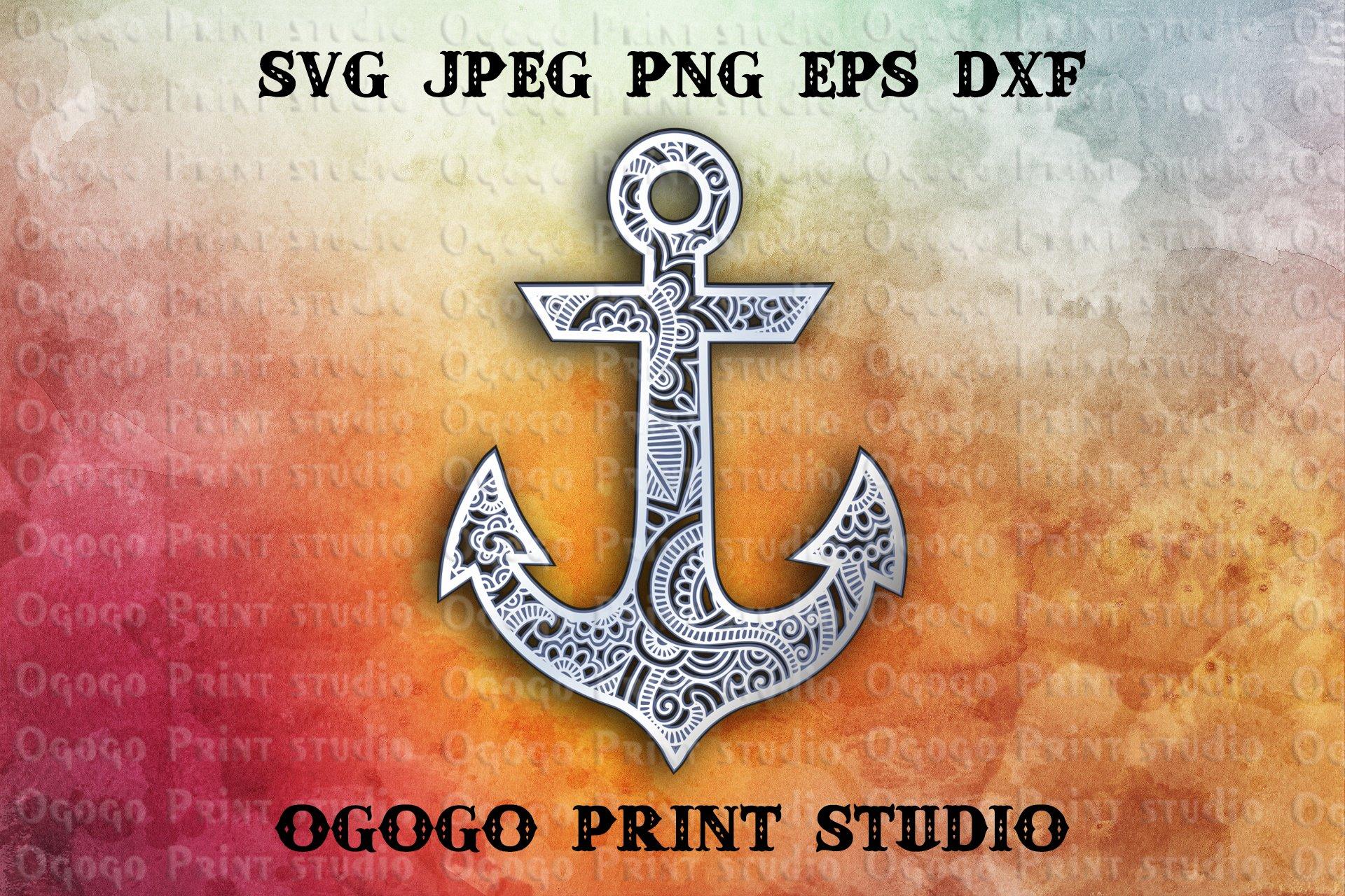 Download 3D Layered Anchor Mandala Svg, Zentangle SVG, Sea Svg ...