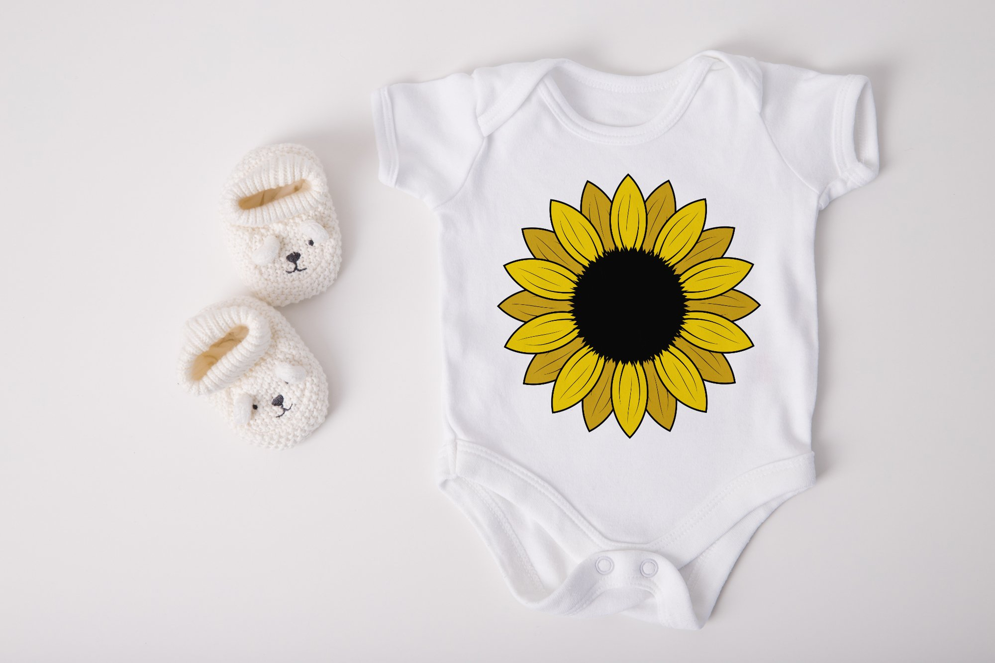 Sunflower SVG Bundle, Sunflower Clipart, Sunflower Monogram example image 5