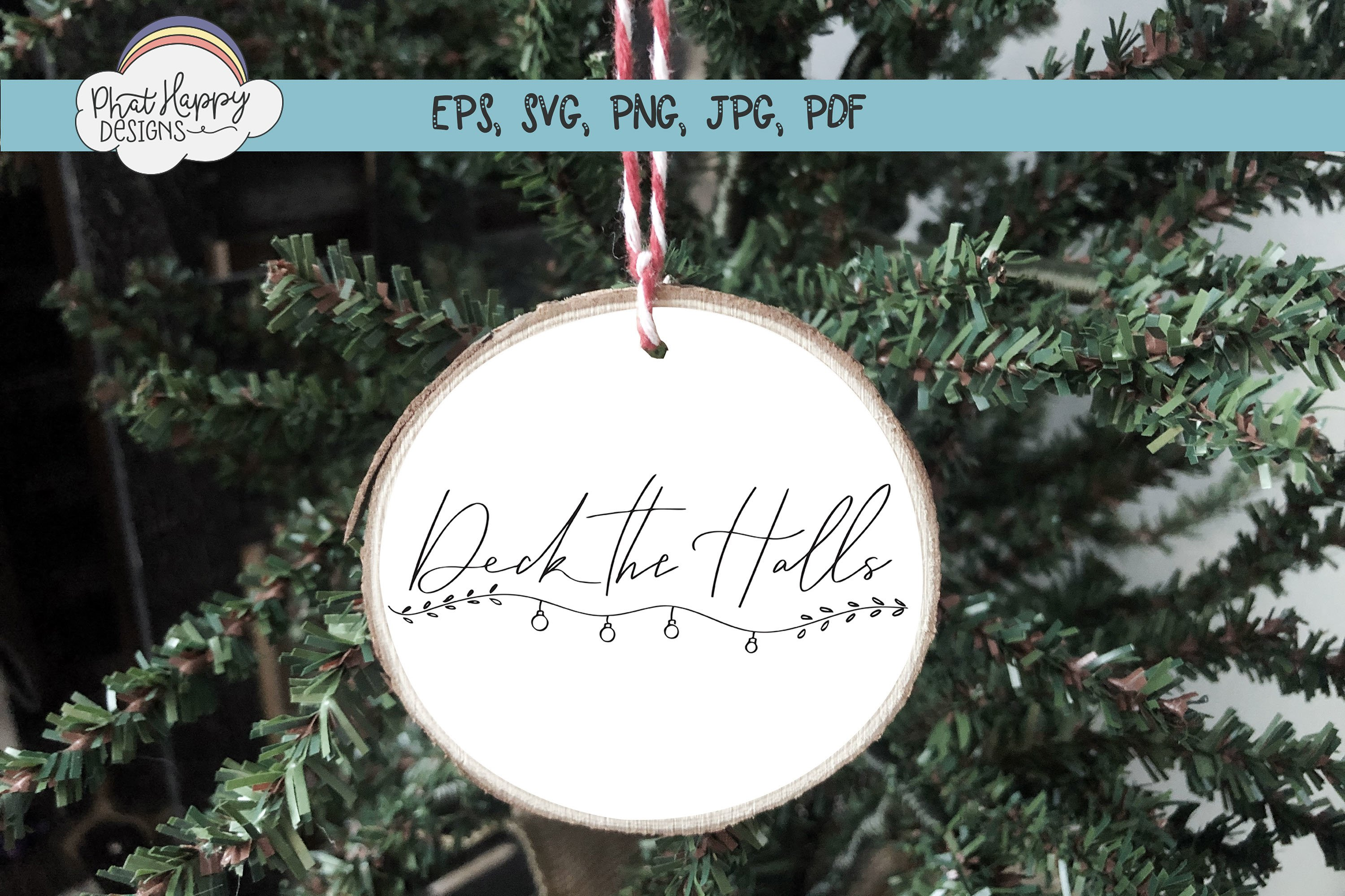 Deck the Halls - Hand Lettered Christmas SVG example image 4