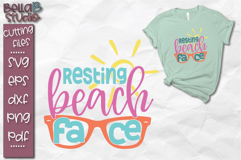 Resting Beach Face Svg Summer Svg Beach Svg 270889 Svgs Design Bundles