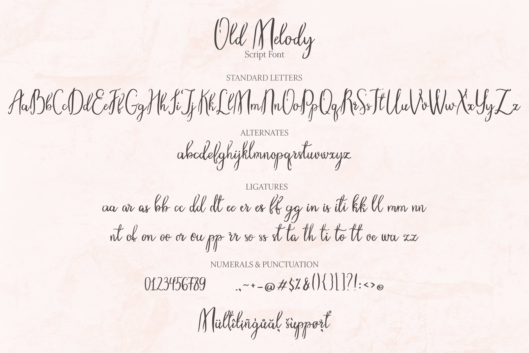 Old Melody Script Font example image 8