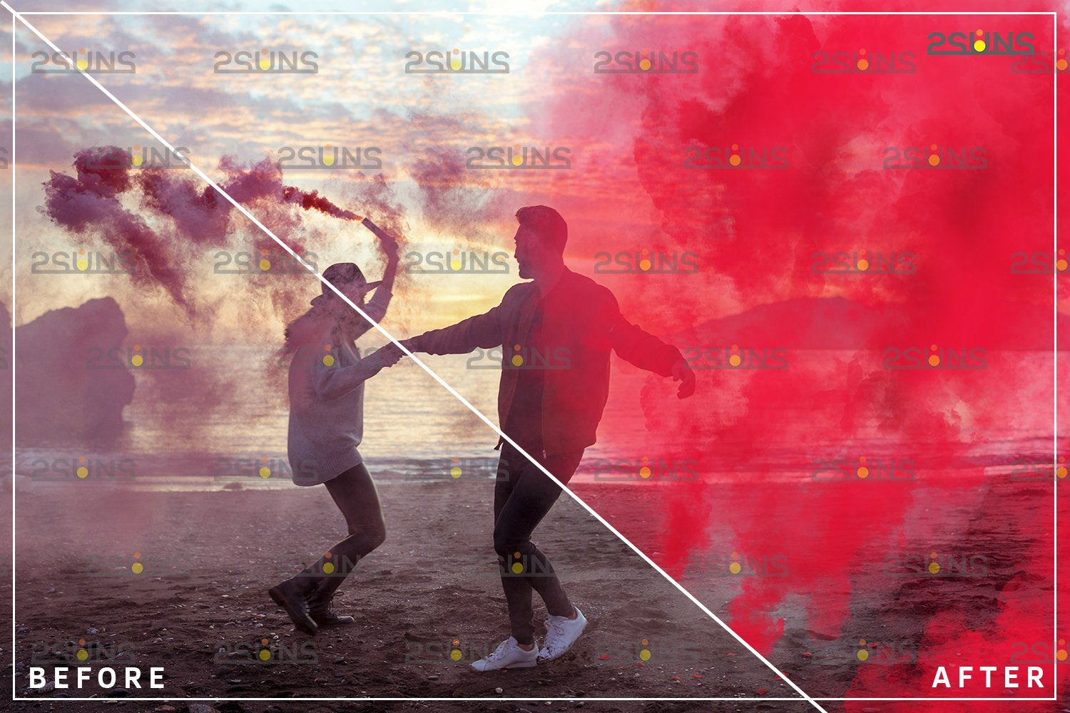 Gender reveal smoke overlay, Colorful Smoke bomb example image 5