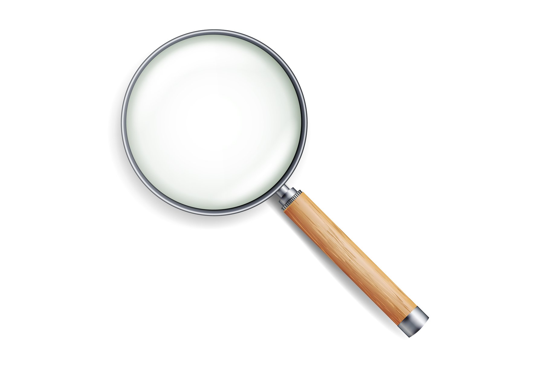 Realistic Magnifying Glass Vector example image 1