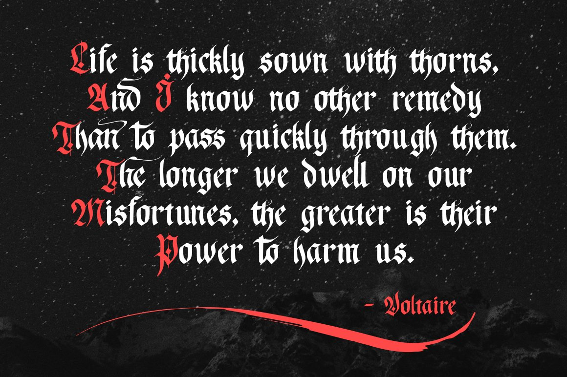 Just Imagine. Blackletter Font. example image 11