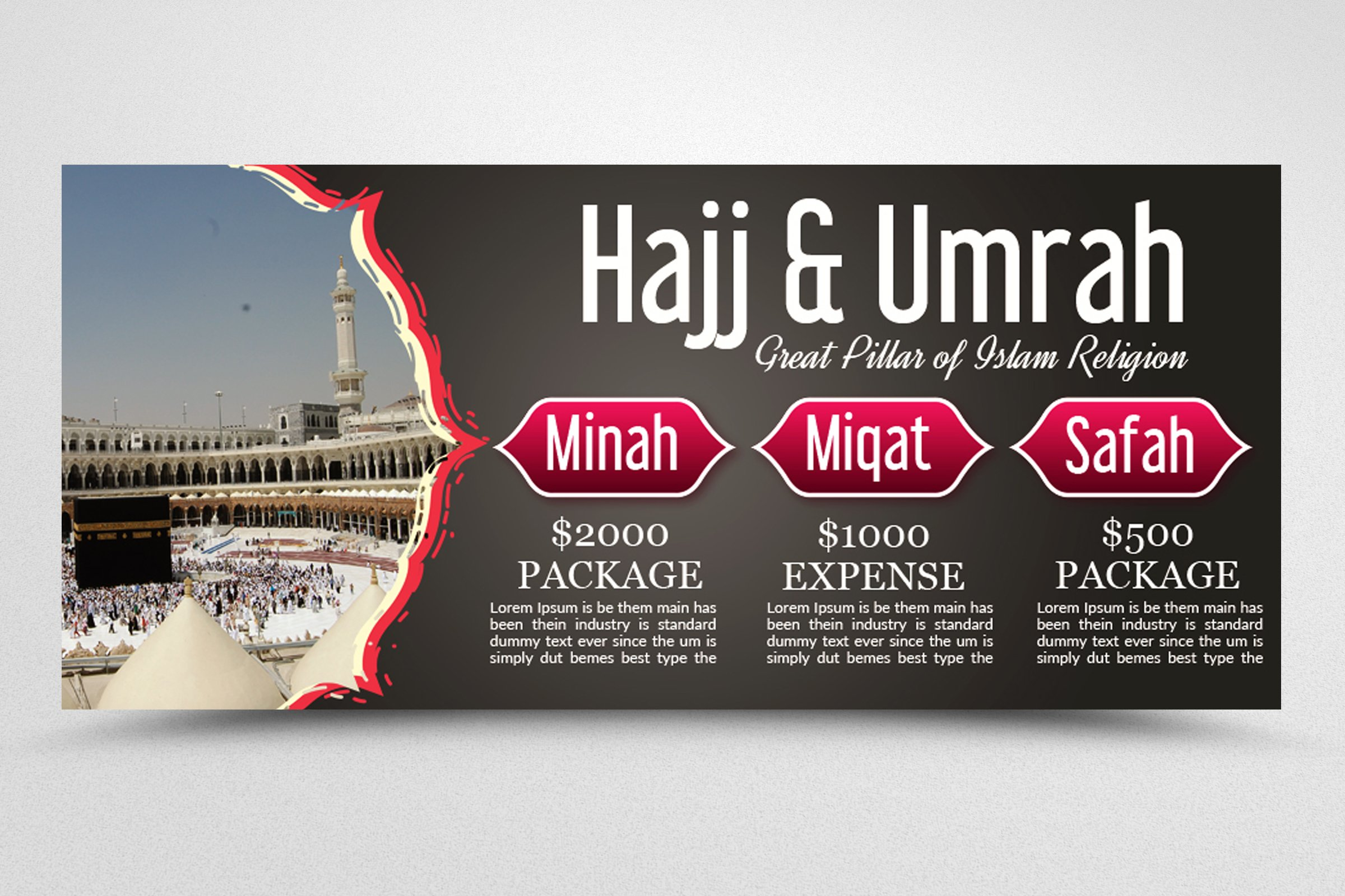 Umrah & hajj Packages Facebook Banner example image 3