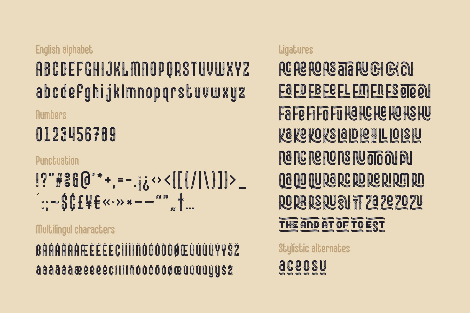 Lord Grayson font and template example image 5