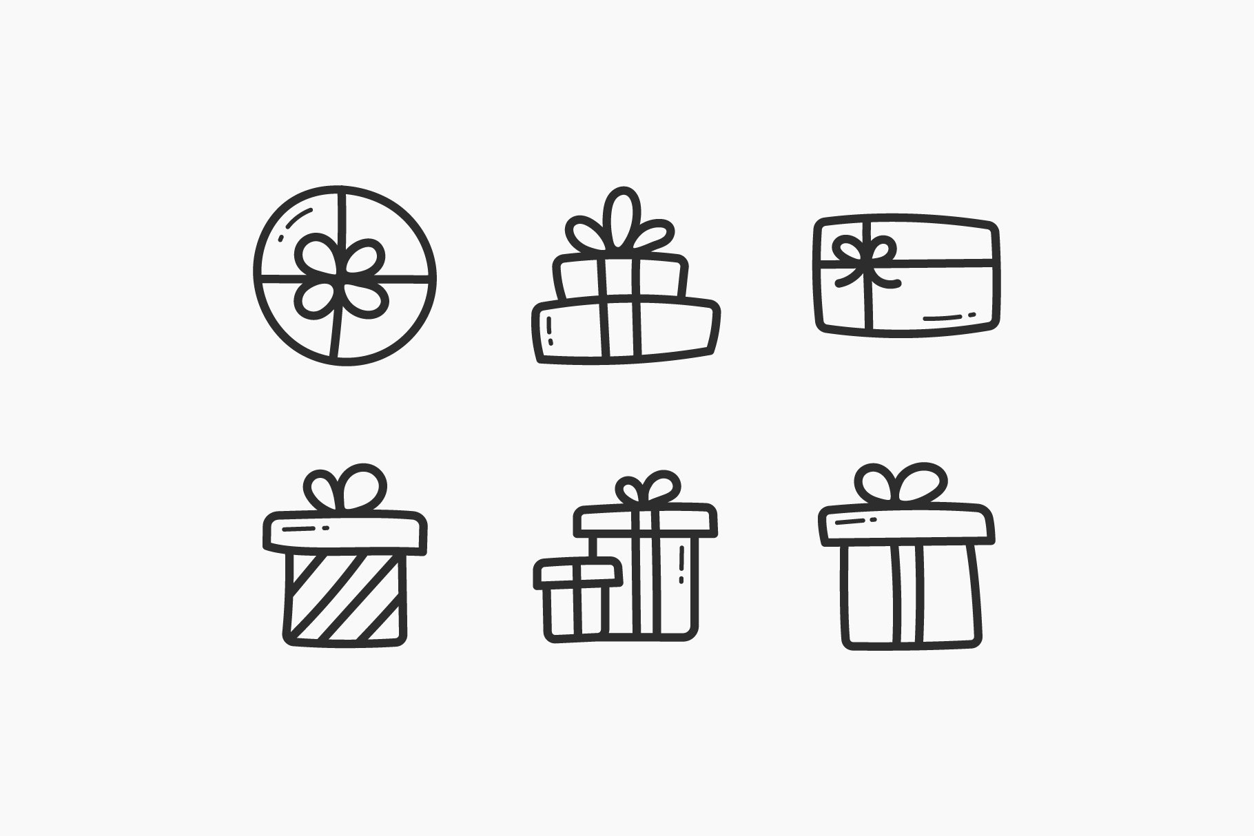 Presents Hand-Drawn Doodle Icons example image 2