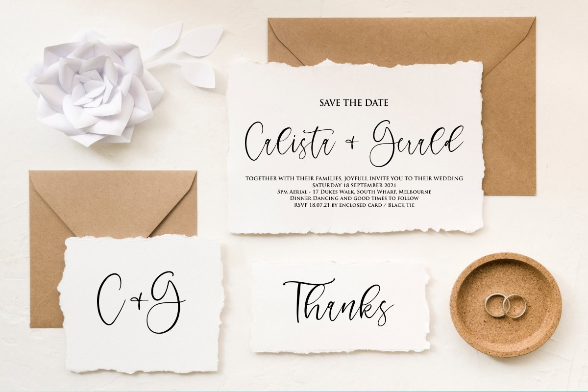 Charming - chic modern script font example image 2