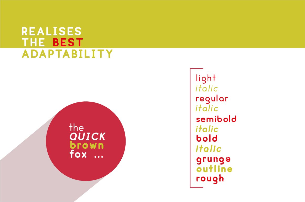cream - complete font family example image 6