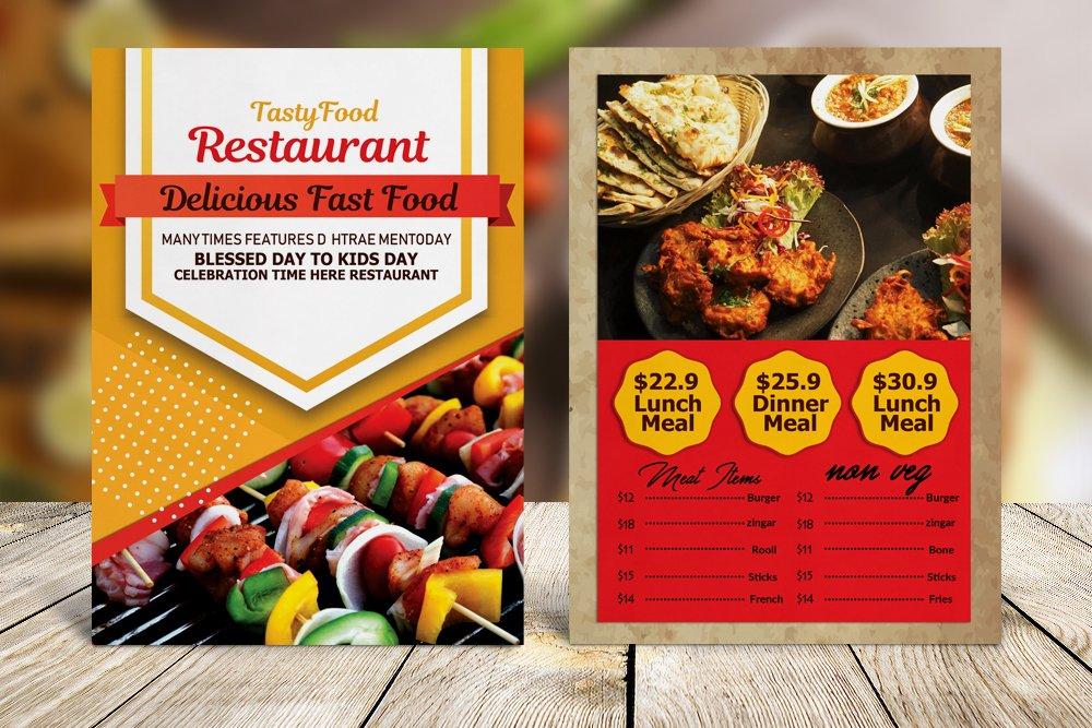 Restaurant Food Menu Template example image 4