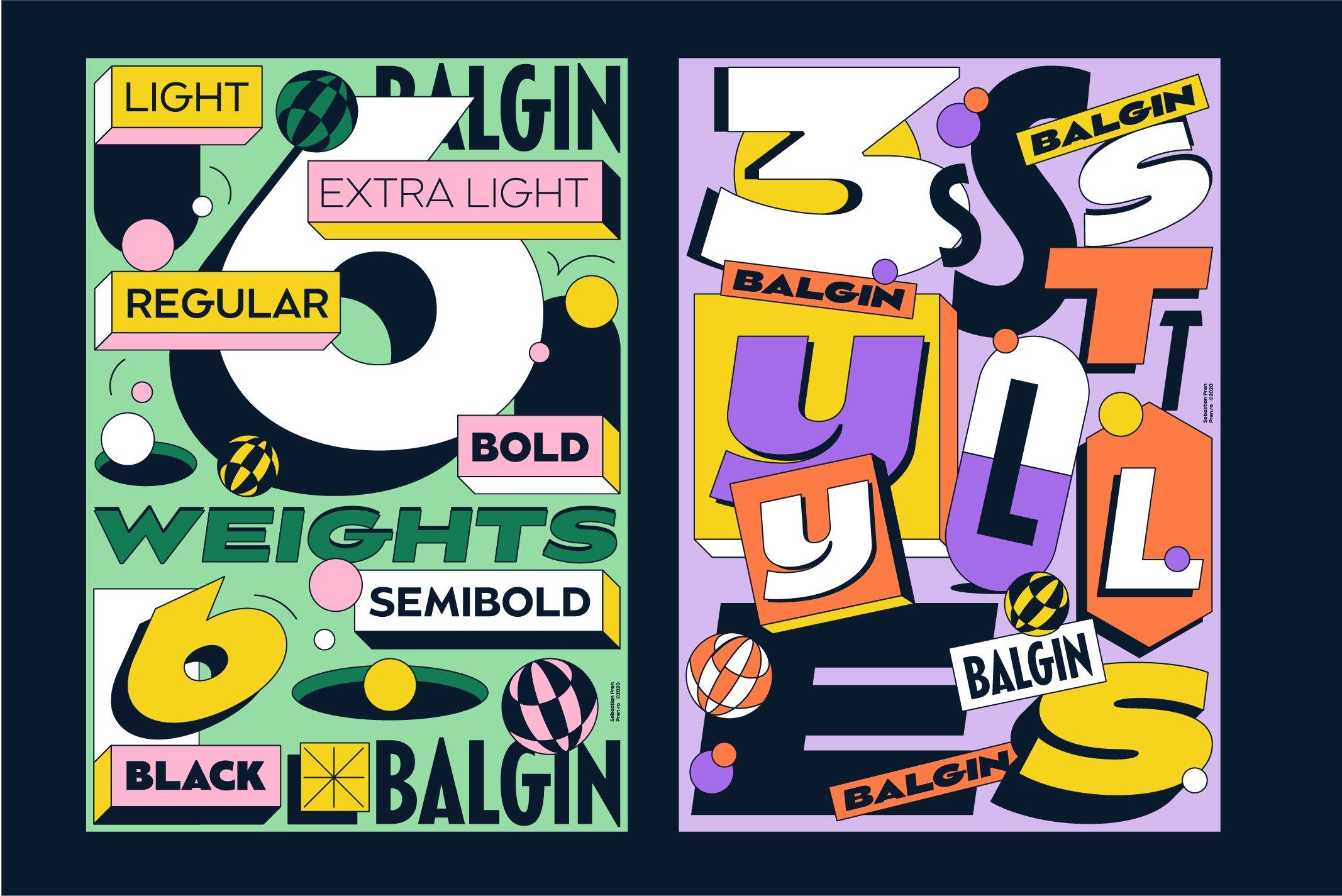 Balgin Font Family example image 16