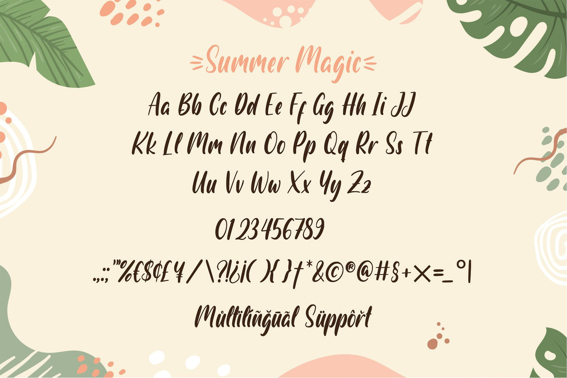 Summer Magic - a quirky font example image 4