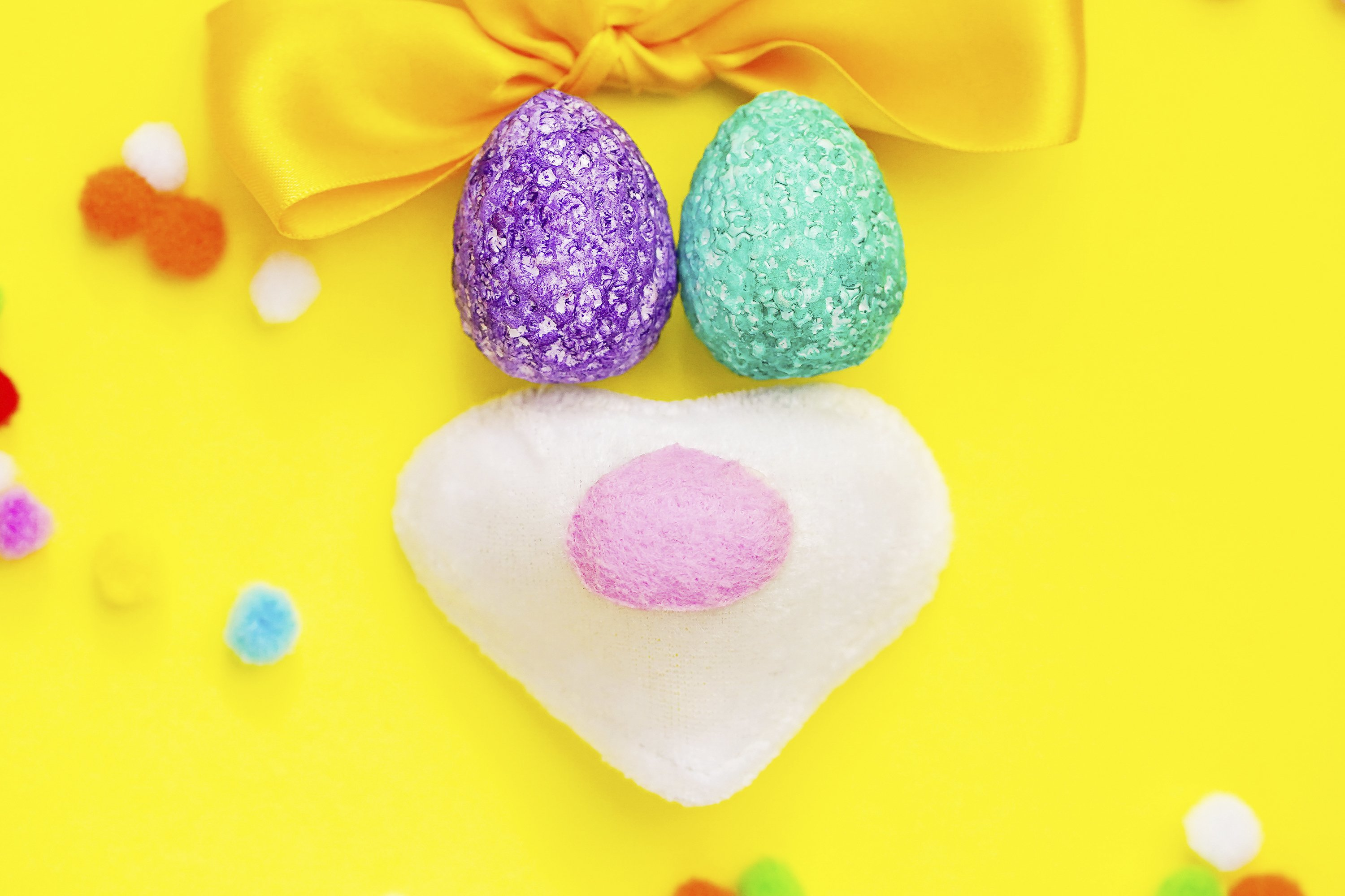 Happy Easter composition of coloful eggs example image 1
