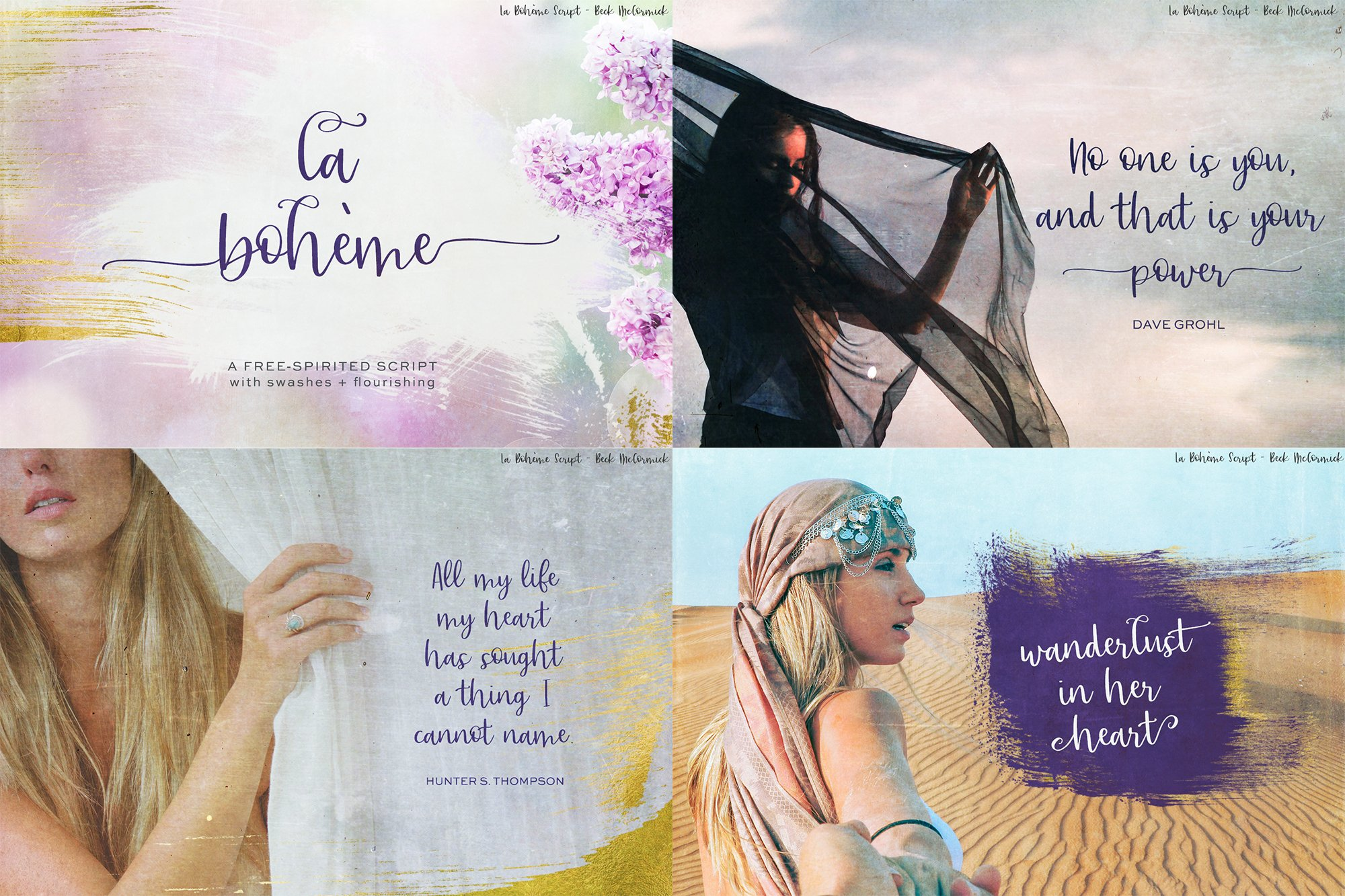 The Chic Calligraphy Font Bundle example image 4