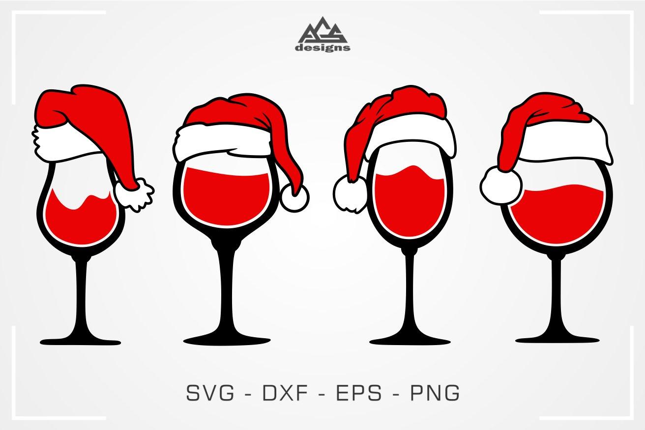 Download Christmas Santa Wine Glass Svg Design 372662 Svgs Design Bundles