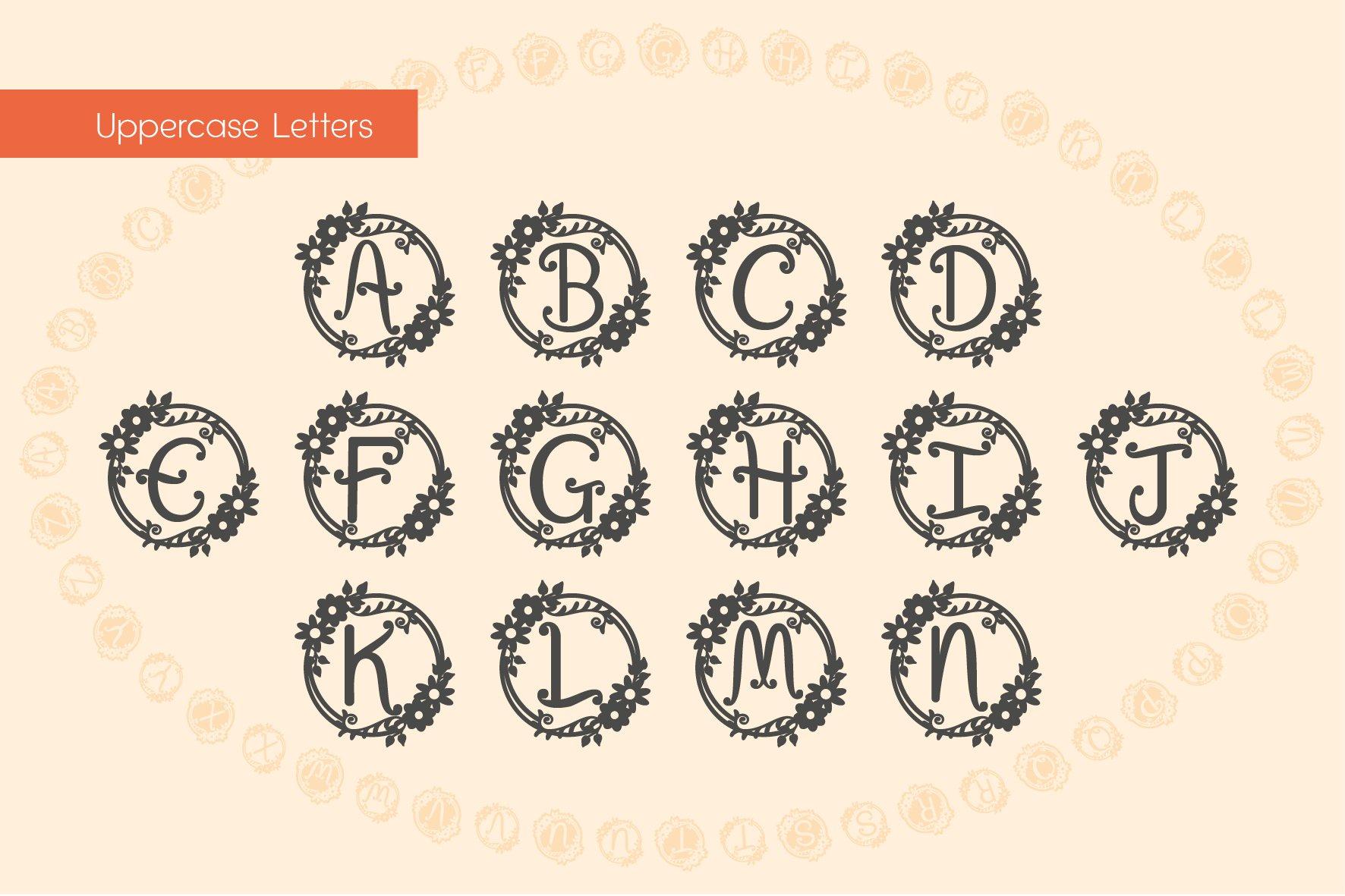 Garden Monograms - Font example image 3