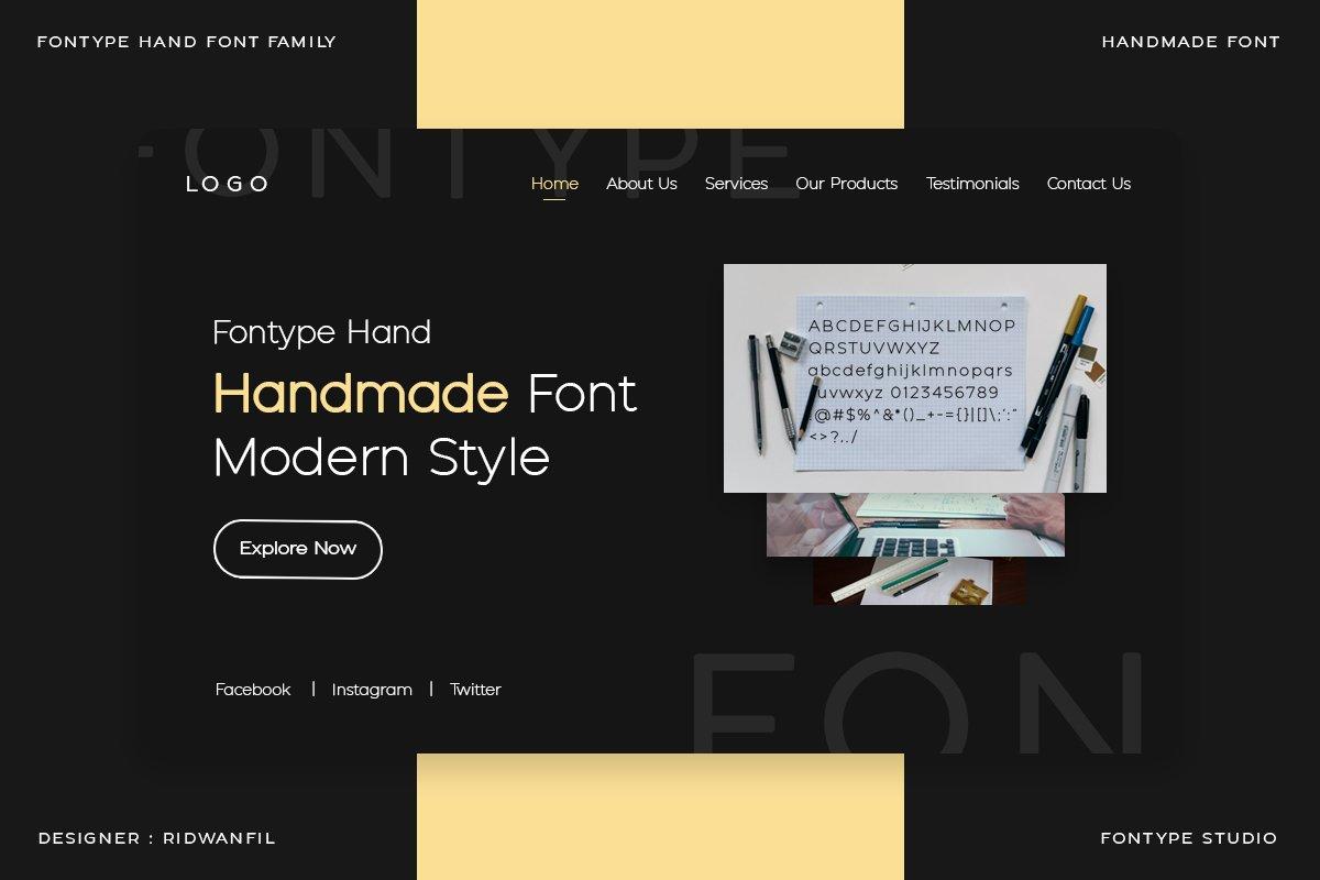 Fontype Hand - Handmade Font Modern Style example image 4