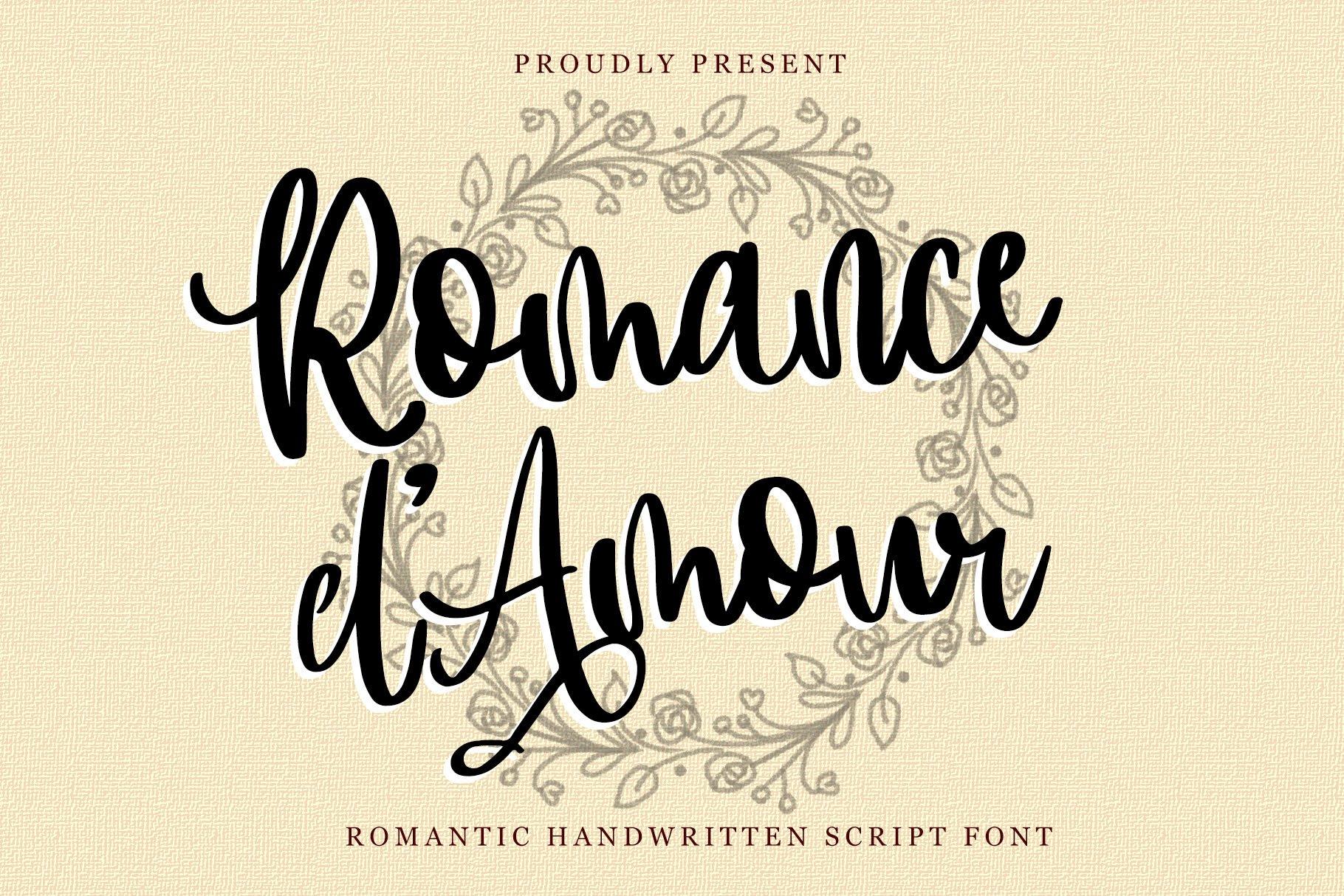 Romance d'Amour - Romantic HandWritten Script Font example image 1