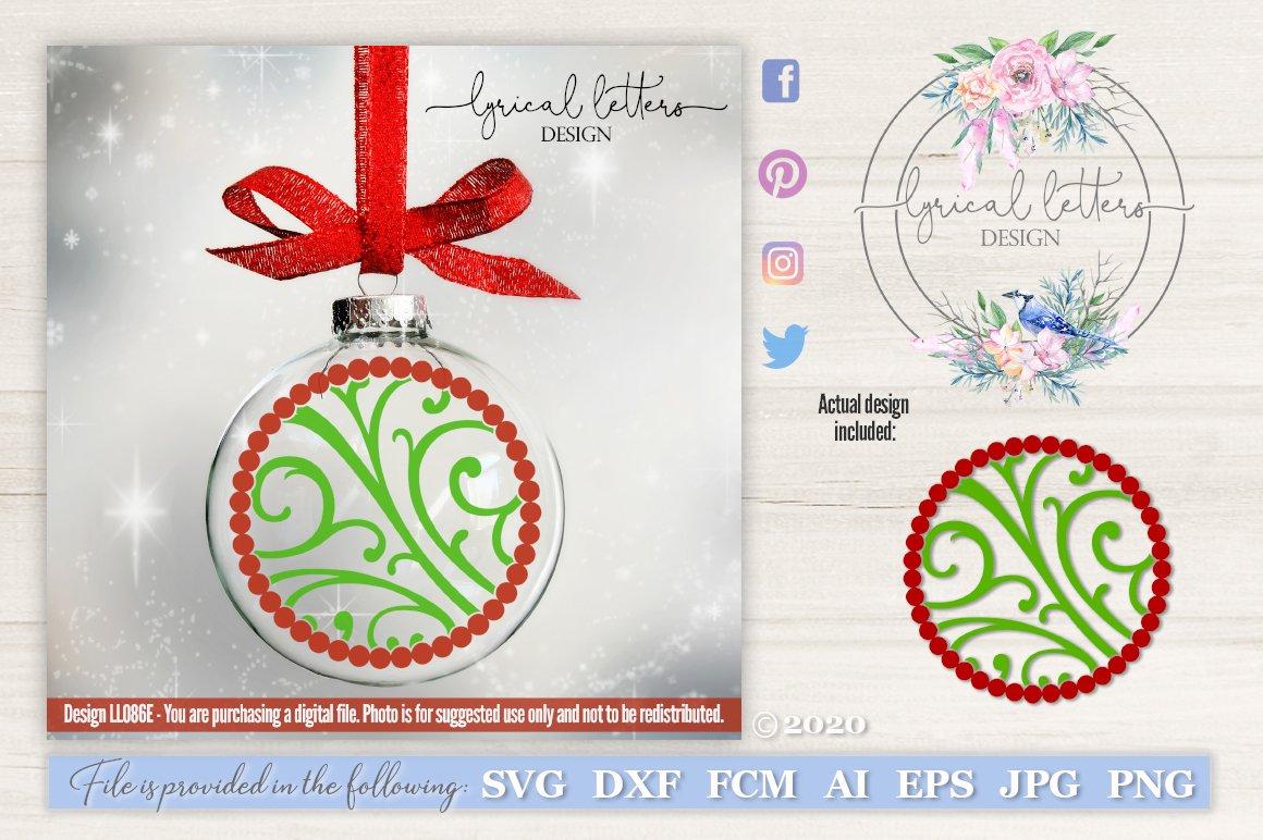 Floating Ornament Pattern Christmas Svg Cut File Ll086e 119761 Cut Files Design Bundles