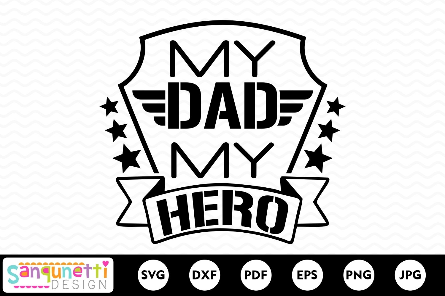 My Dad My Hero SVG, military Dad example image 2