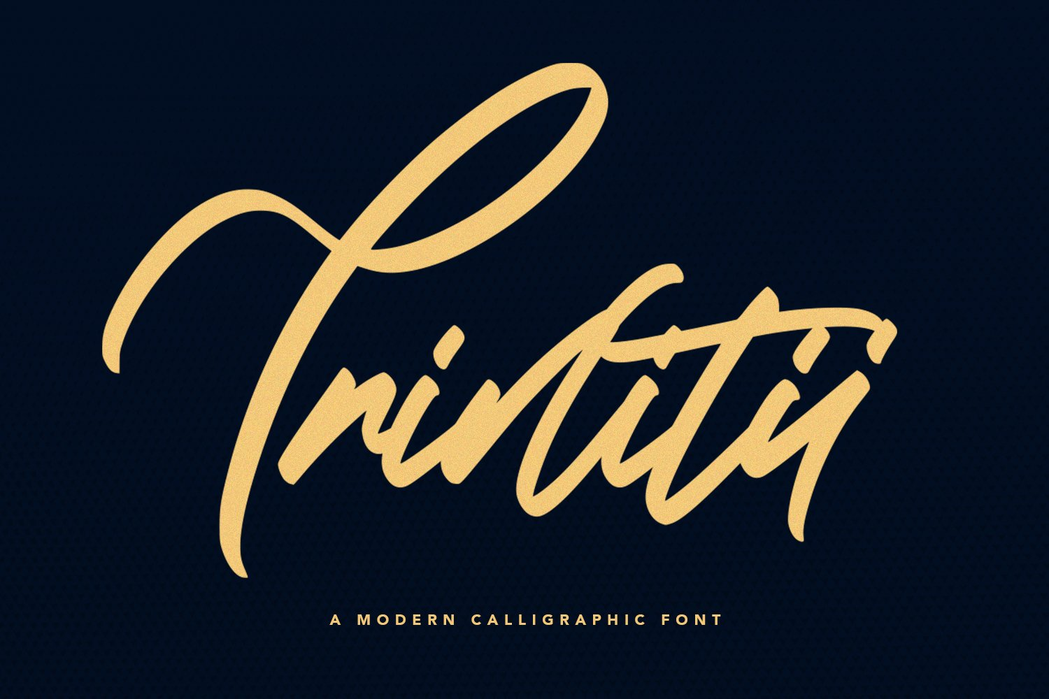 Trinitii - Modern Calligraphic Font example image 1