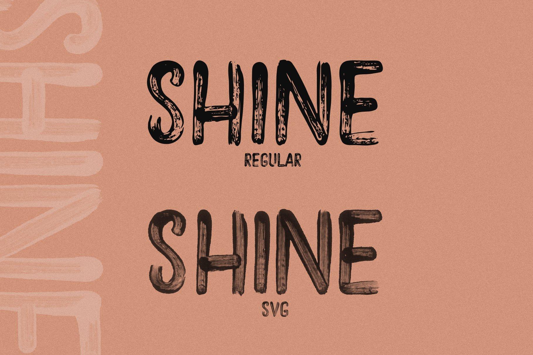 Shine - A Handwritten Brush Font example image 7