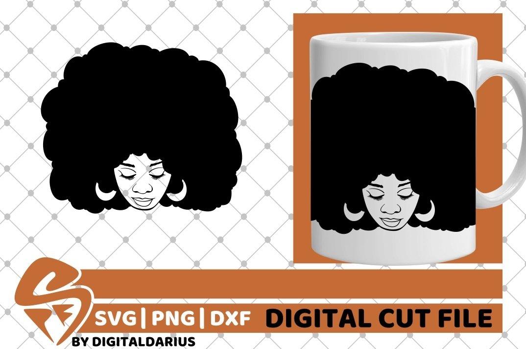 Black Woman svg, Natural Hair svg, Melanin svg, Black Queen example image 2