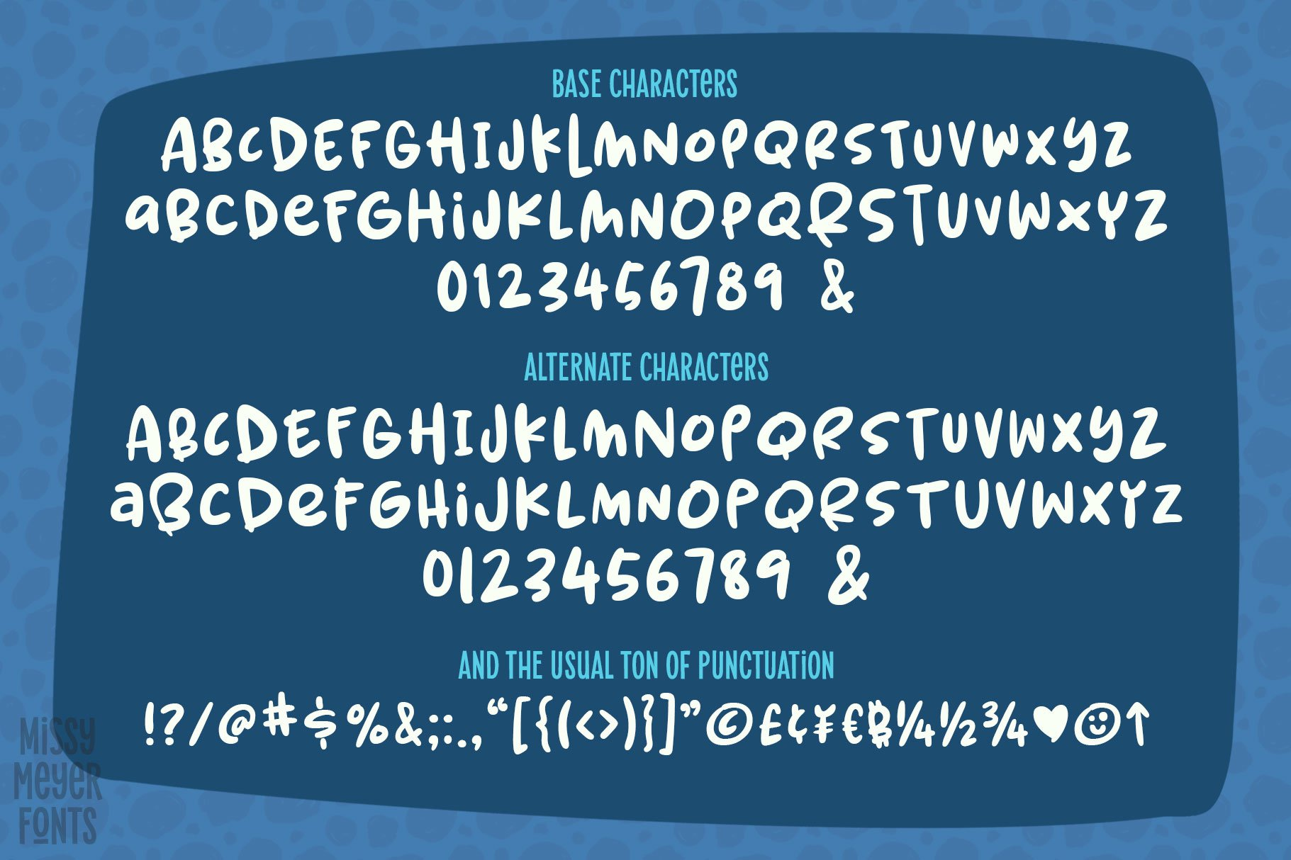 Spring Herbs - a bouncy, blobby, whimsical font! example image 2